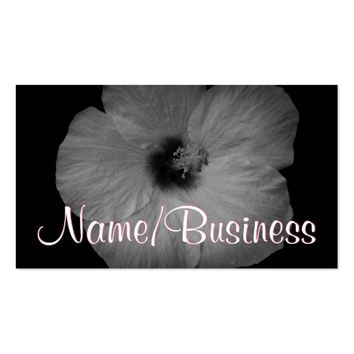 Hawaiian Dreams in Black and White Business Card