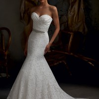 Blu by Mori Lee 5102 Vintage Lace Wedding Dress