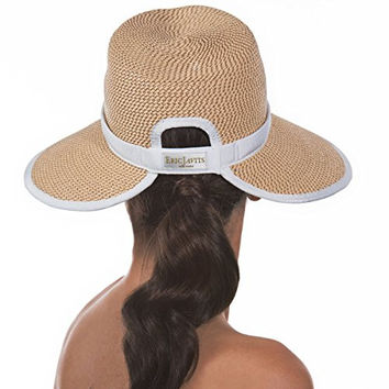 Eric Javits Women's Headwear Suncrest Hat (Peanut/White)