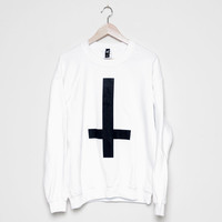 Crew Sweater / / Inverted Cross White BMA Modified Medium