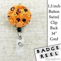 Yummy Chocolate Chip Cookie Button Rotating Clip ID by GypsyGoods