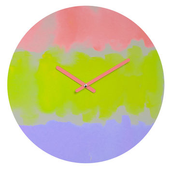 Rebecca Allen Night Atlas Round Clock