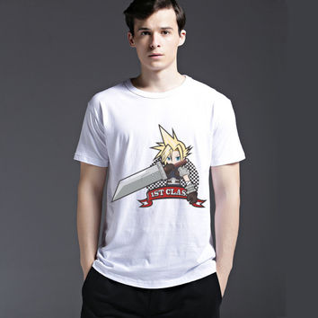 Strong Character Cotton Men's Fashion Summer Anime Short Sleeve Casual Tee Cartoons Fashion T-shirts = 6450751683