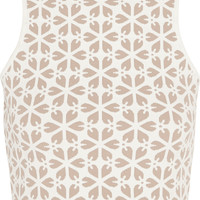 Alexander McQueen - Cropped jacquard-knit top