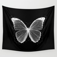 Geometric Butterfly Wall Tapestry by Cafelab