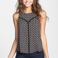 Lush Crochet Trim Woven Tank (Juniors)