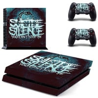 Suicede silence Death metal design decal for ps4 console sticker