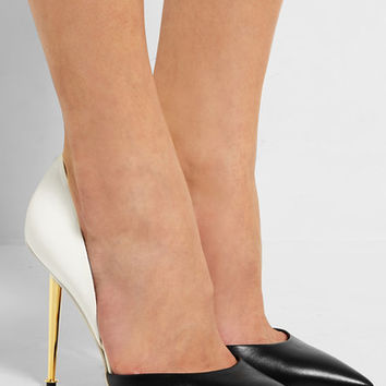 Tom Ford - D'Orsay two-tone leather pumps