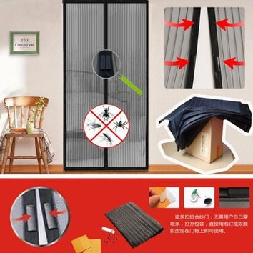 100*210CM Summer Magnetic Anti Mosquito Mesh Magnetic Door Net Anti Insect Fly Bug Mosquito Door Curtain Window Screen Net