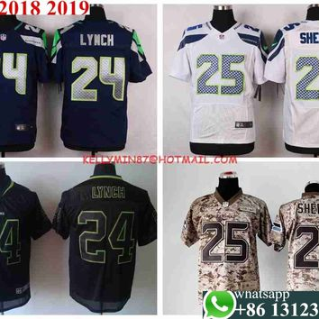 Stitiched,high quality,Seattle   Marshawn Lynch,Richard Sherman Jersey