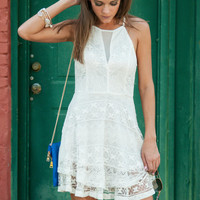 Say You Frill Dress, White