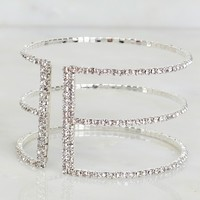 Starry Path Crystal Bracelet Silver