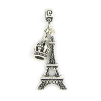 New European Crown & Tower Pendant