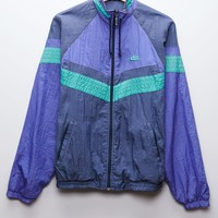 Retro Gold Windbreaker Jacket - Womens Jacket - Gray - One