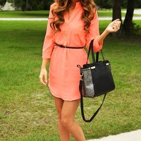 Just Can't Wait Dress: Neon Peach - Dresses - Hope's Boutique