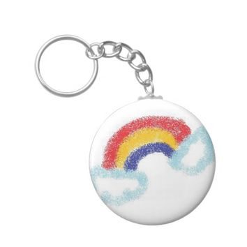 RAINBOW SPRAY KEYCHAIN