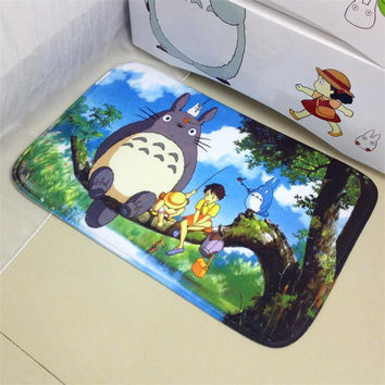 40X60CM Cartoon Doormat Totoro Small Floor Mat Outdoor Cute Carpet For Kids Room Non-Slip Foam EVA Mat Area Rug Bedside