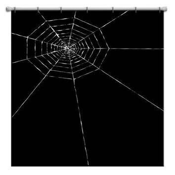 Spider Web Halloween Shower Curtain