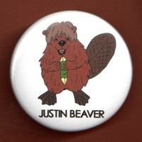 JUSTIN BEAVER BUTTON 175 Justin Bieber spoof by theartfulbadger