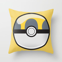 Ultra Pokeball Throw Pillow by Pi Design Prints