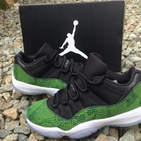 Air Jordan 11 Low 'green Snakeskin 'basketball Shoes 41 47