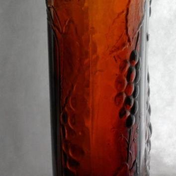 CREYUG7 RARE DIVINE WINE Bottle - Antique Canadian Brown Glass Bottle - Circa 1934 - Jordan Wi