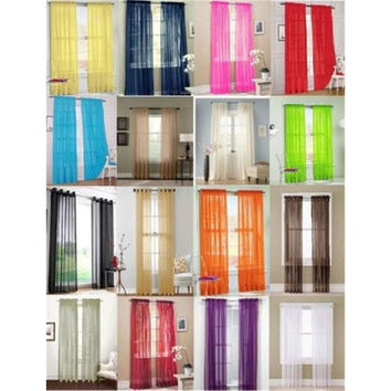 1PCS nylon gauze curtain 100*200cm  [8045578503]