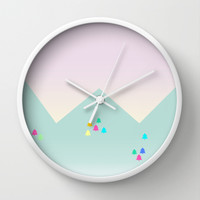 Spring Dawn Wall Clock by Cuttlefishlove