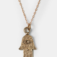 Third Eye Hamsa Indie Necklace - $14.00 : ThreadSence, Women's Indie & Bohemian Clothing, Dresses, & Accessories