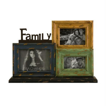 Photo Frame Collage - Wood Finish Design