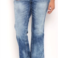 Plus Size Series 31 Bootcut Jean with Medium Cloud Wash
