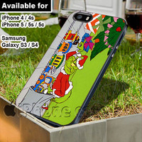 Grinch that stole Christmas WN for iPhone 4 / 4s / 5 / 5s / 5c case, Samsung Galaxy S3 / S4 case
