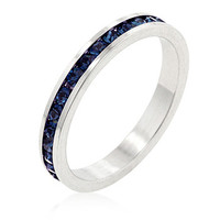 Stylish Stackables with Montana Blue Crystal Ring