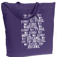 We are the Dancers – Recycled Zippered Tote