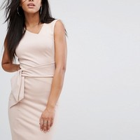 Lipsy Panel Mini Dress with Suedette Detail at asos.com