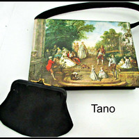 Tano of Madrid Envelope purse French Painting