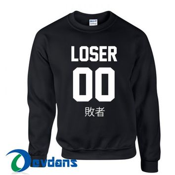 Loser Japanese Sweatshirt Unisex Adults Size S to 3XL