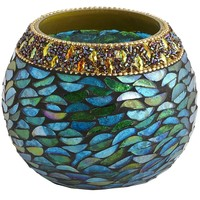 Beaded Rim Votive Holder