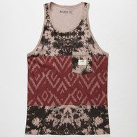 Lira Acid Solo Mens Tank Burgundy  In Sizes