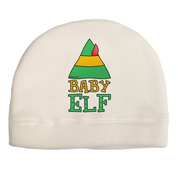 Matching Christmas Design - Elf Family - Baby Elf Adult Fleece Beanie Cap Hat by TooLoud
