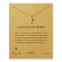adventurer totem pole necklace, gold dipped