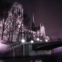 Paris Notre Dame at Night Fine Art Photography Print