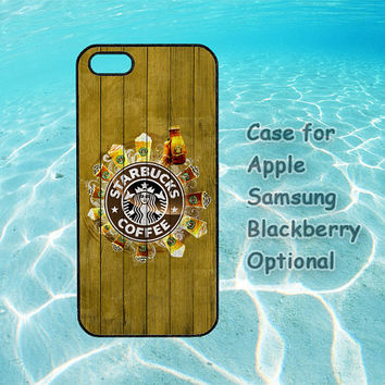 Starbucks for iphone 5 case, iphone 4 case, ipod case, Samsung note 2, Samsung galaxy S3, Samsung galaxy S4, blackberry Q10, blackberry z10