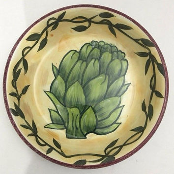Certified International by Linda Jacque Pasta Soup Salad Bowl Artichoke Pattern