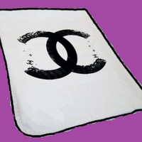 Black Chanel Logo Funny Blanket