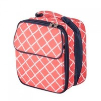 Insulated Water Resistant Lunch Bag (Coral)