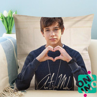 Austin Mahone Heart Zippered Pillow Case, Cushion Case, Pillow case