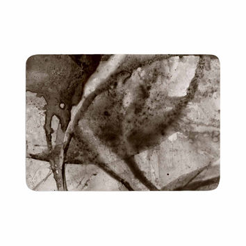 "Malia Shields ""Universe Series BW"" Gray Brown Memory Foam Bath Mat"