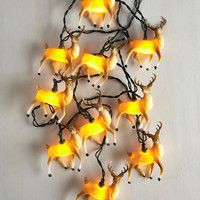 Critters Fun and Reindeer Games String Lights by ModCloth