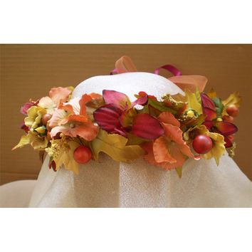 Fall Wedding Flora Autumn Faerie Fairy Head wreath